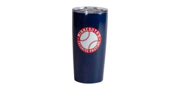 MN Baseball stainless navy tumbler