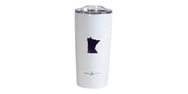 MN Baseball stainless white tumbler
