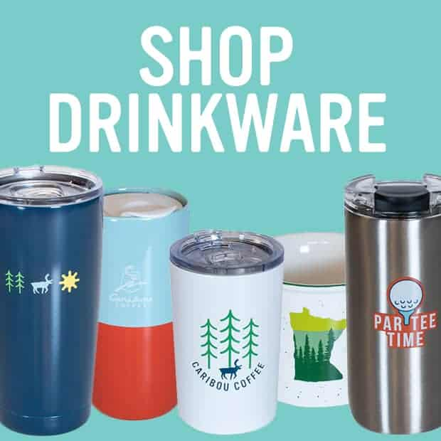 Drinkware category showing summer mugs and tumblers