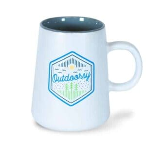 Outdoorsy Ceramic Mug, White, Drinkware