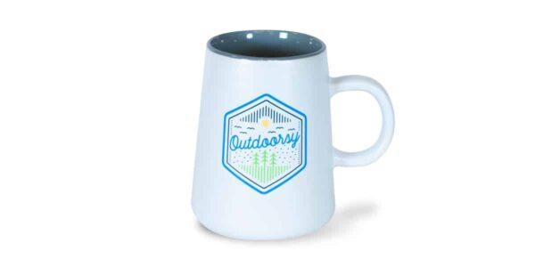 Outdoorsy Ceramic Mug, White, Drinkware