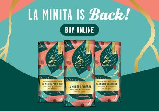 la minita peaberry specialty single origin coffee is back - click to shop