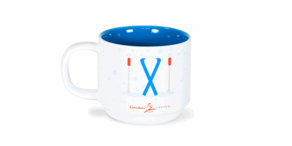 Dachshund Through the Snow Festive 10oz Ceramic Mug Back