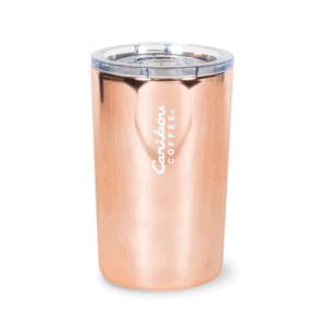 Electroplated Stainless Steel Tumbler, 12 oz, Rose Quartz