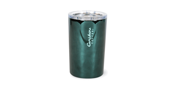 Electroplated Stainless Steel Tumbler, 12 oz, Deep Green