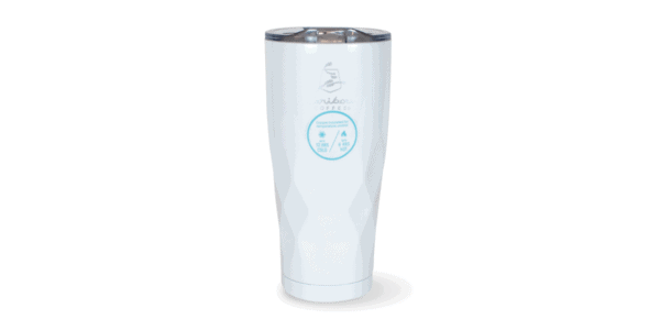 Faceted Stainless Steele Tumbler White