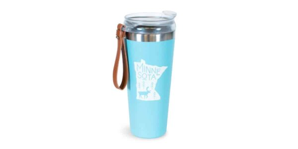 Fall MN State Tumbler with Leather Strap