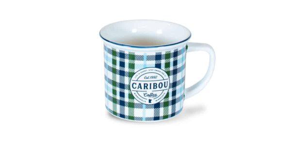 Fall Caribou Est 1992 Mug, All Over Plaid