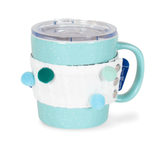 I Love Winter Ceramic Mug Front, Teal