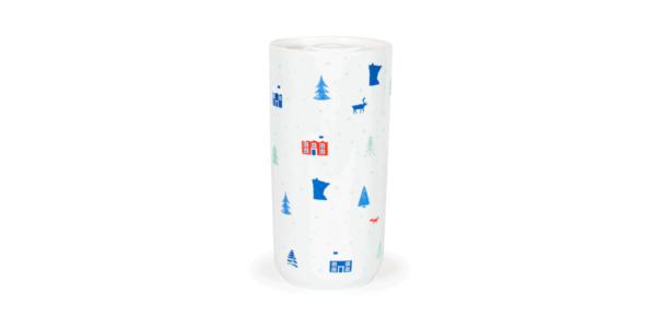MN Cabin Ceramic Mug, 11oz, White, Front