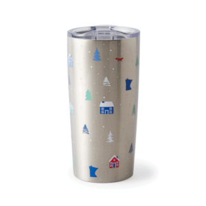 Minnesota Cabin Stainless Tumbler, 20oz, Front