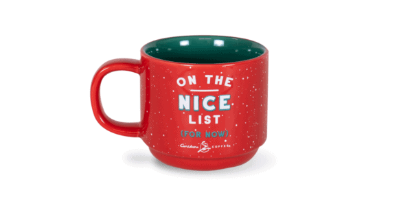 On the Naughty/Nice List Festive 10oz Ceramic Mug Back