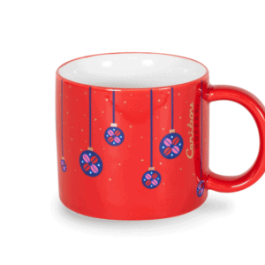 Dachshund Through the Snow Festive 10oz Ceramic Mug Front