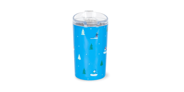 Up to Snow Good Stainless Steel Tumbler Back, Blue
