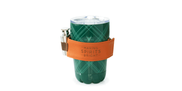 Green Plaid Tumbler with Flask, 10oz