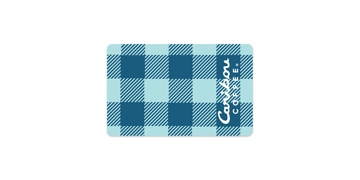 Caribou Card- Cariblue Buffalo Plaid