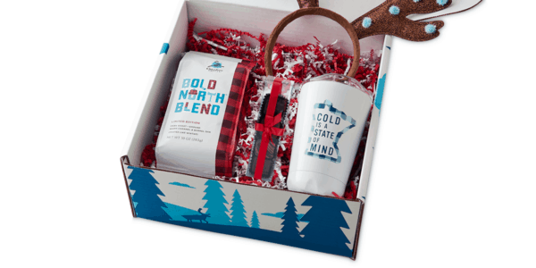 Daymaker Caribou Xmas White Tumbler with Truffles