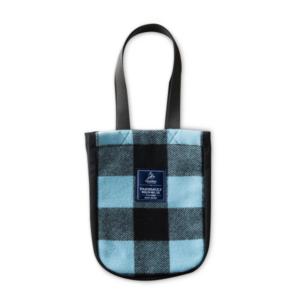 Faribault Woolen Mill Handle Bag - Blue Plaid v2