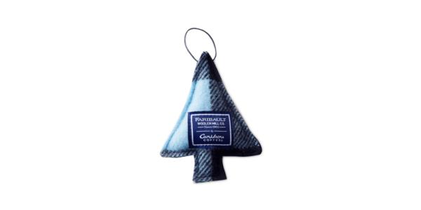 Faribault Woolen Mill Co. Tree Ornament Blue Plaid v2