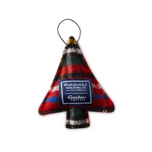 Faribault Woolen Mill Co. Stewart Plaid Tree Ornament V2