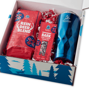 Daymaker Reindeer Xmas Blue Tumbler with Peppermint Bark