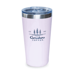 Caribou Coffee Est 1992 Steel Tumbler, Light Pink