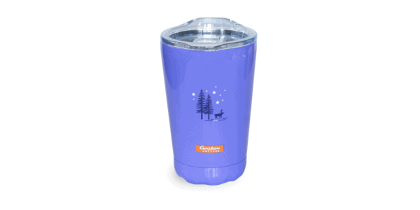 Go Out and Live Your Dreams Tumbler, Periwinkle, 10oz, Back