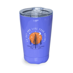 Go Out and Live Your Dreams Tumbler, Periwinkle, 10oz, Front
