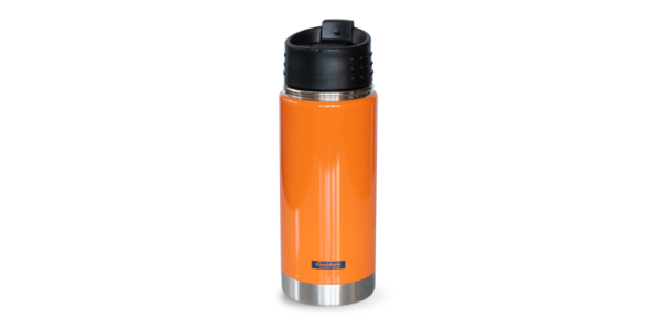 MN Adventures Stainless Tumbler, Orange, Back