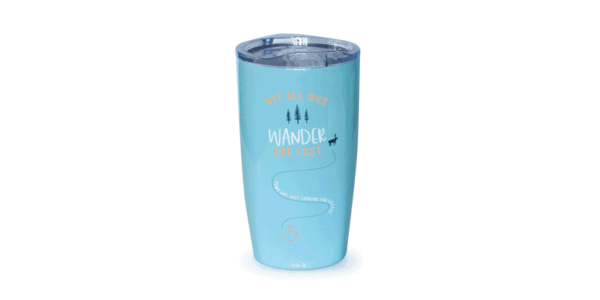 Not All Who Wander Are Lost, Tumbler, Cariblue, Front