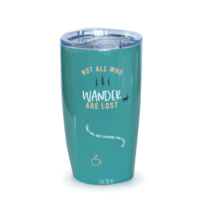 Not All Who Wander Are Lost, Tumbler, Green, Front