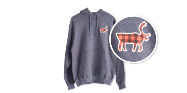 Buffalo Plaid Caribou Fleece Hoodie