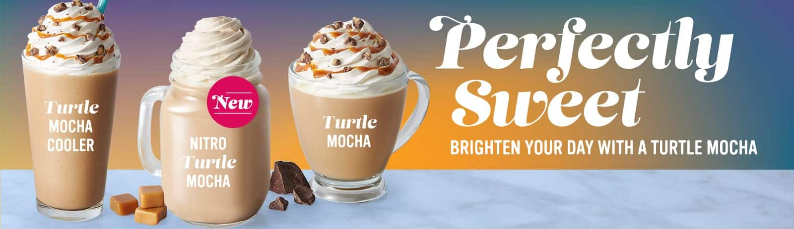 Perfectly Sweet Beverage Trio Turtle Mocha Three ways