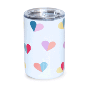 Multi Heart Stainless Tumbler, Front