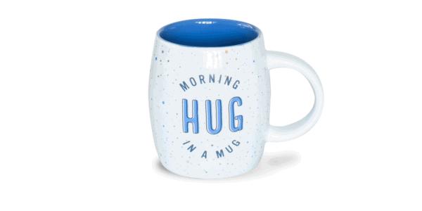 Morning Hug in a Mug, Ceramic Mug, Front