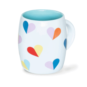 Multi Heart Ceramic Mug, Front