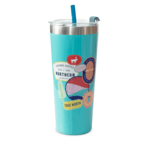 Collage SS Tumbler Teal Front
