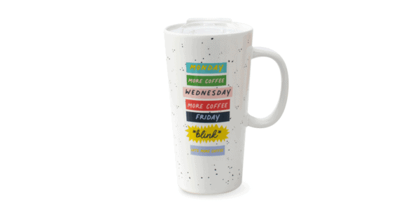 Day of the Week Latte Mug Front