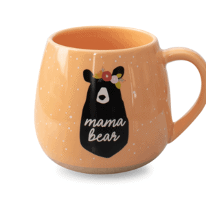 Mama Bear Ceramic Mug Orange Front