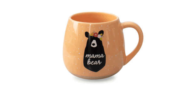 Mama Bear Ceramic Mug Orange Front