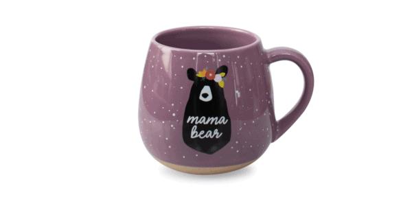 Mama Bear Ceramic Mug Purple Front