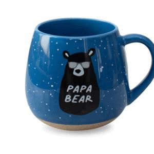 Papa Bear Ceramic Mug Blue Front