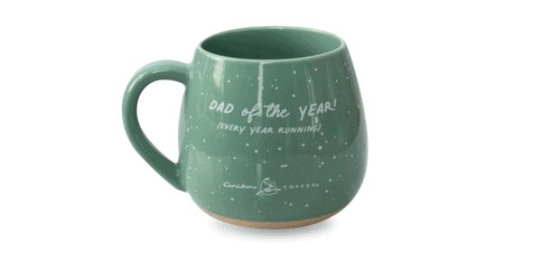 Papa Bear Ceramic Mug Green Back