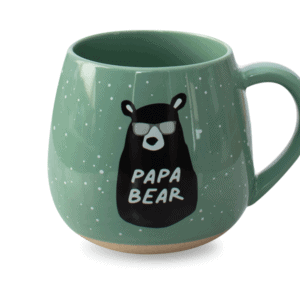 Papa Bear Ceramic Mug Green Front