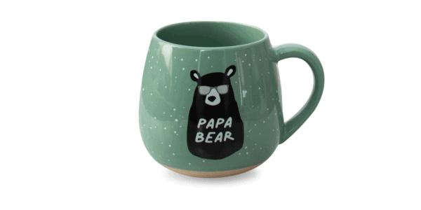Papa Bear Ceramic Mug Green Front