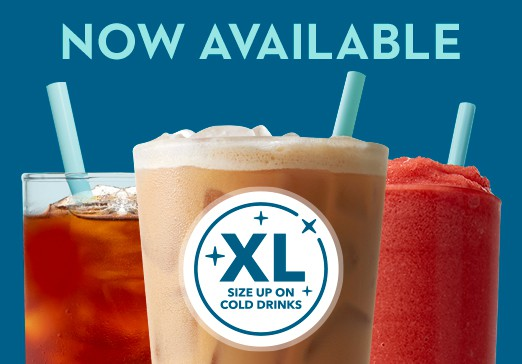 Now Available XL Cold Beverages