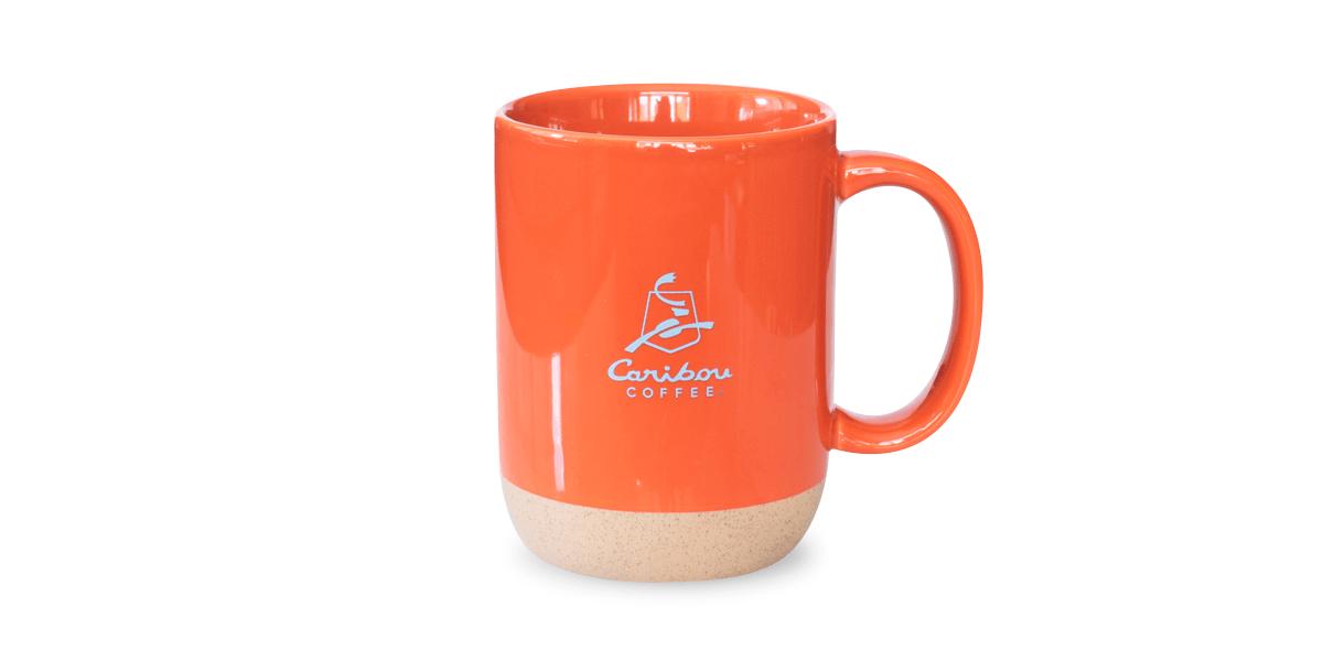 Deep Orange 14 oz Ceramic Mug