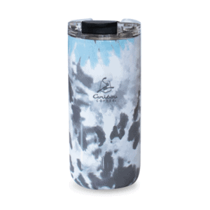Grey and Blue Tie Dye 16oz Stainless Steel Tumbler