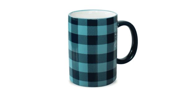 Buffalo Plaid Ceramic Mug Black Blue