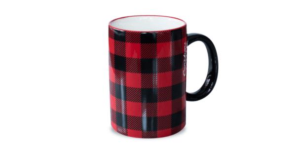 Buffalo Plaid Ceramic Mug Red Black